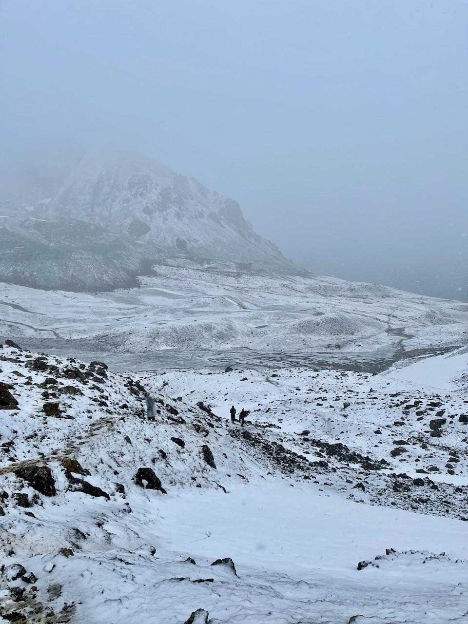 Ala Kul Kyrgyzstan Snow Hike Travel