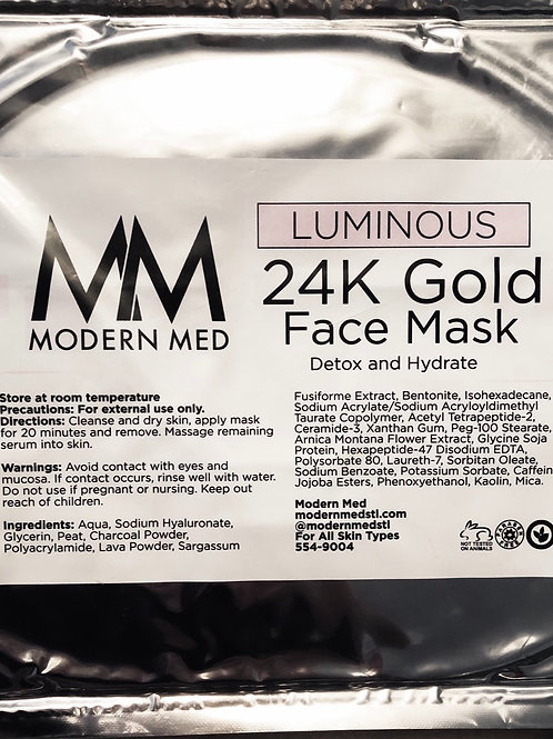 Modern Med Luminous 24K Gold Face Mask
