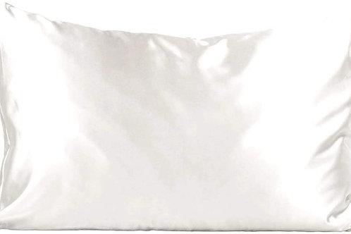 White Satin Pillowcase (King)