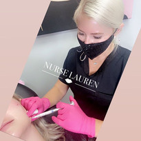 Jaw line filler with radiesse