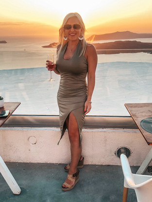 Santorini, Greece Winery Sunset