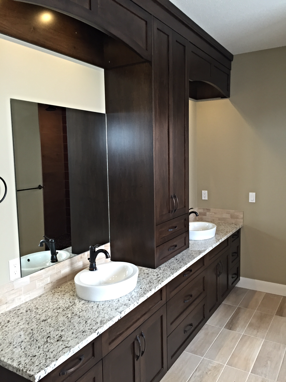 Master Ensuite w/ Custom Cabinetry