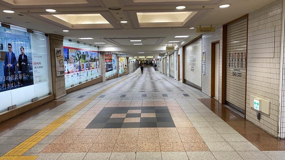 תחנת הרכבת בשיבויה טוקיו בתקופת הקורונה