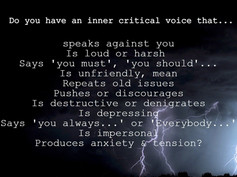 How can you spot the inner critic?