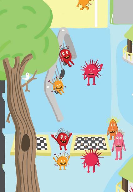 Pratt Playground Germ Map
