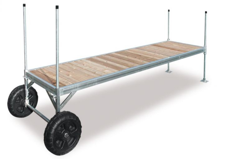 6' x 15' SECTION RED CEDAR ON WHEELS - QRC-0615
