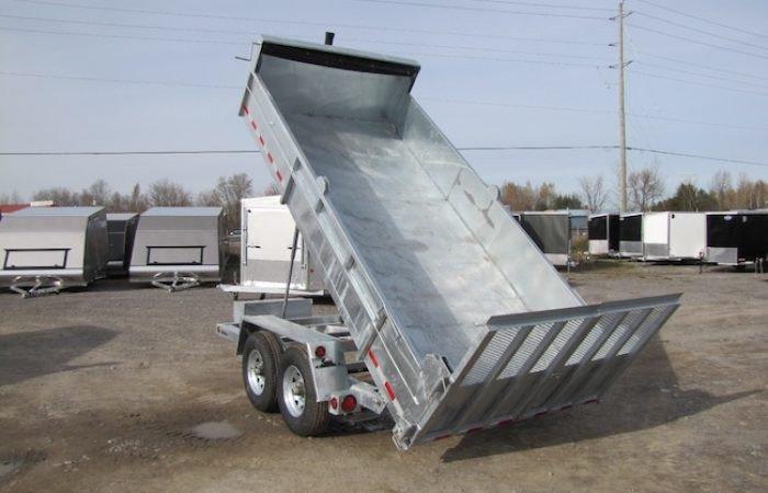 """76""""x12' galvanized combo dump"""