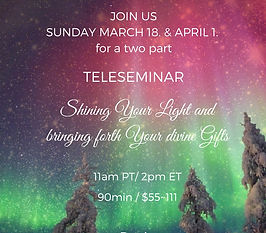 JOIN US SUNDAY MARCH 18TH 2018TELESEMINA