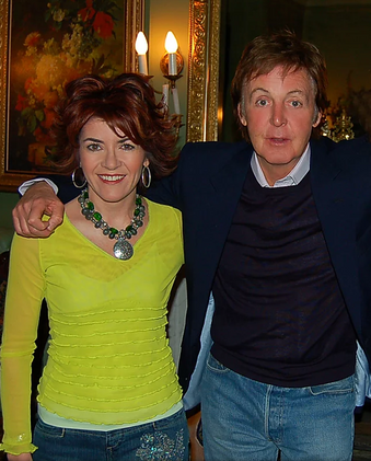 Owner Gina MacMillan with special guest Sir Paul McCartney