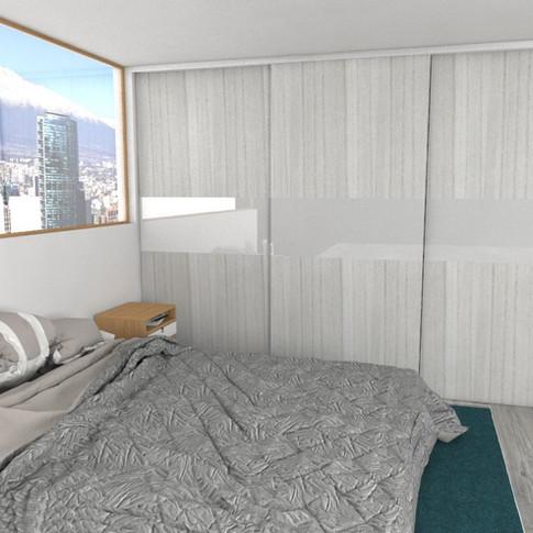 dormitorio closet high gloss