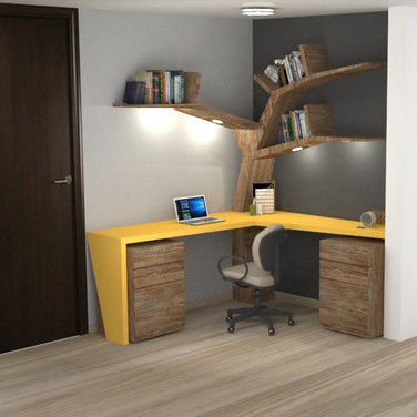 escritorio diseño mobiliario interior