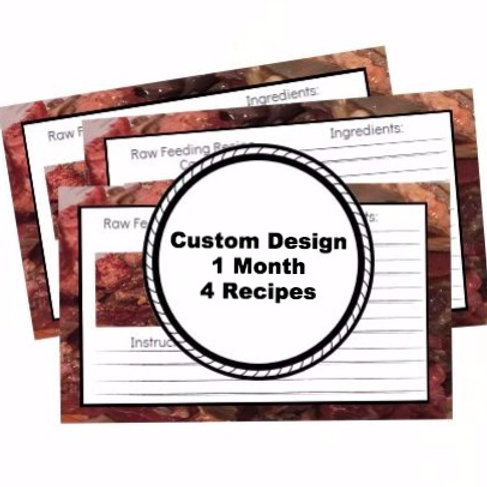 Custom Design 1 Month 4 Recipes