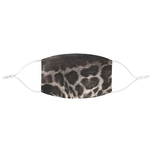Elysian Bengals Silver Charcoal Leopard Print Mask