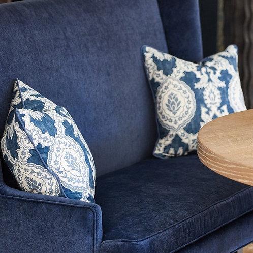 Blue Pattern Pillows (pair)