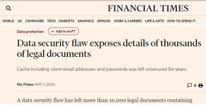 Protecting legal firm's data from security flaws