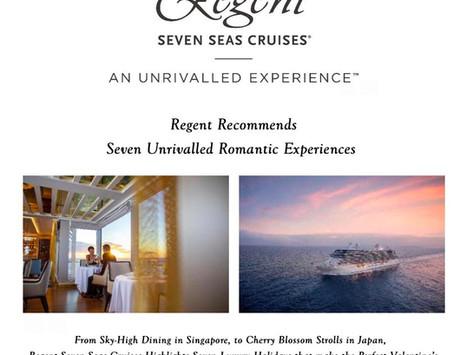 Regent Recommends Seven Unrivalled Romantic Experiences
