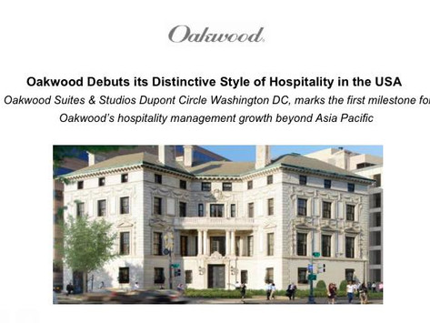 Oakwood Debuts its Distinctive Style of Hospitality in the USA