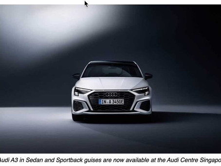 Big car sophistication in compact style: The new Audi A3, now available in Singapore