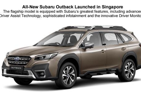 All-New Subaru Outback Launched in Singapore