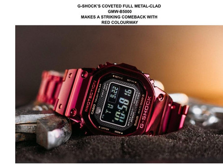 G-SHOCK's coveted, full metal GMW-B5000 makes come back in bold red colourway for CNY