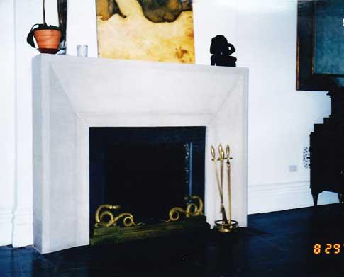 Limestone Architectural Mantel
