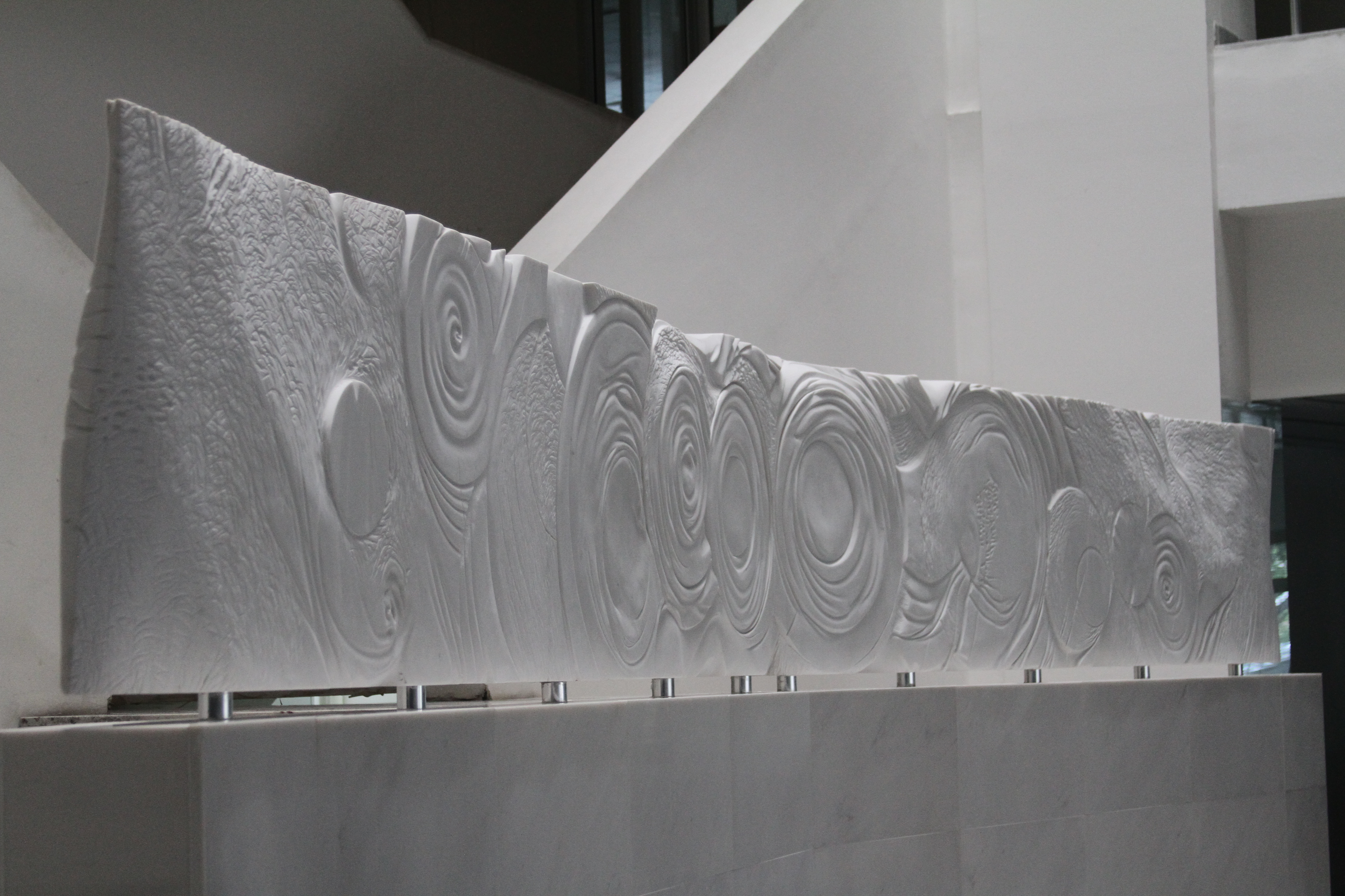 White Marble Relief- side view