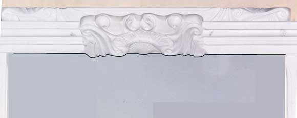 Mantel Detail made in White Sivec