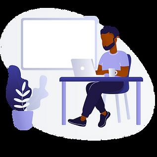 Black Man : Black Woman Using Laptop A.p