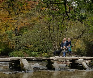 Tarr Steps on Exmoor National Park near Wonham Oak Holiday Cottages