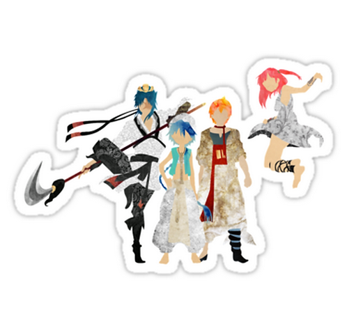 SRBB1769 The Protagonists - Magi Car Window Decal Sticker anime