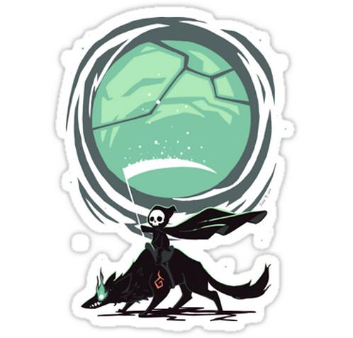 SRBB0886 Little Reaper Car Window Decal Sticker anime
