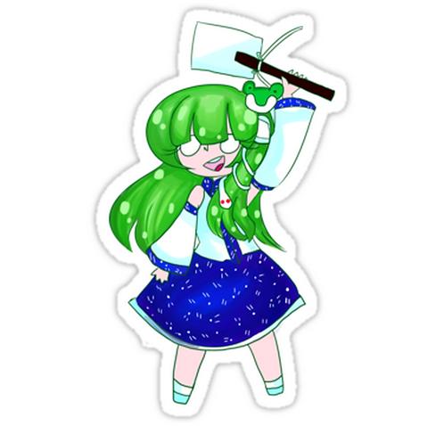 SRBB1659 Cute Froggo Car Window Decal Sticker anime