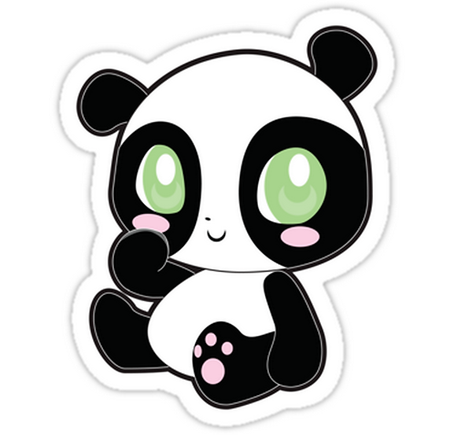 SRBB1286 Panda Car Window Decal Sticker anime