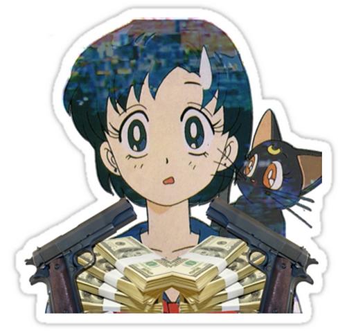 SRBB1132chief keef bang bang [featuring ami] anime sticker