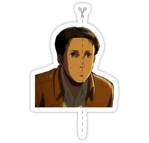 SRBB0968 Half of a Man Car Window Decal Sticker anime