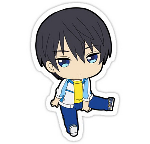 SRBB0288 Haruka Nanase ChibiCar Window Decal Sticker anime