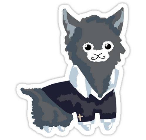 SRBB0872 Wolfpaca Sticker Car Window Decal Sticker anime