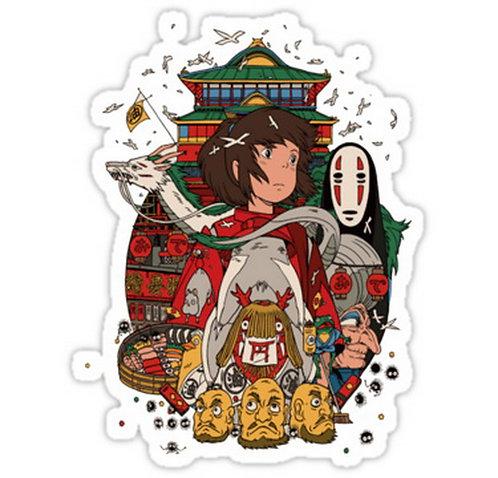 SRBB0296Totoro Ghibli anime sticker