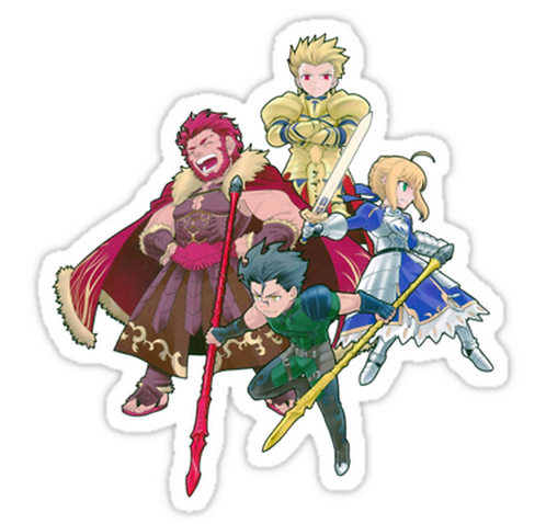 SRBB1717	Fate Zero Heroic Spirits anime sticker