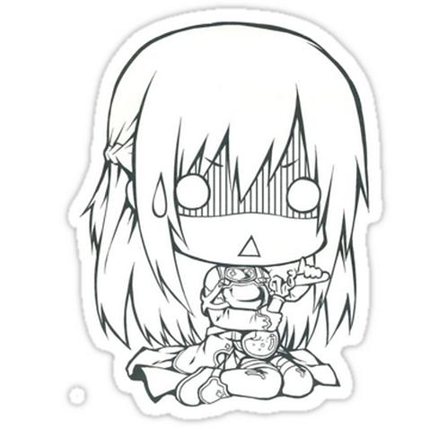 SRBB1559asuna chibi anime sticker