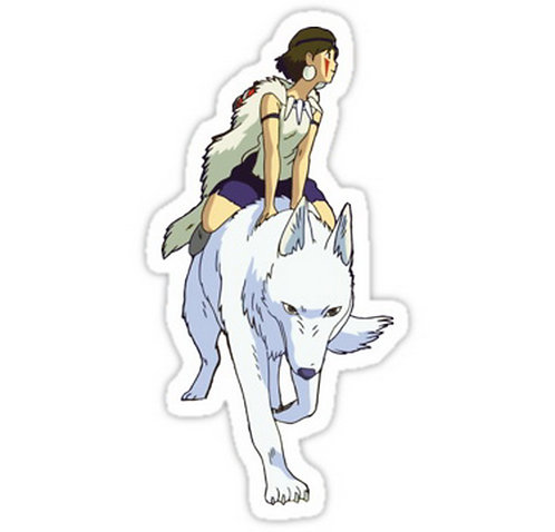 SRBB0215 Mononoke riding Car Window Decal Sticker anime