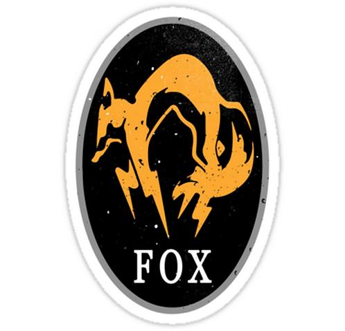SRBB0922 MGS - FOX Logo Car Window Decal Sticker anime