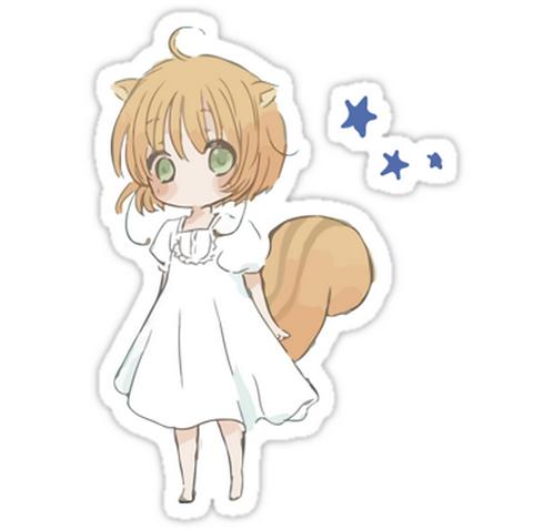 SRBB0877 chipmunk sakura Car Window Decal Sticker anime