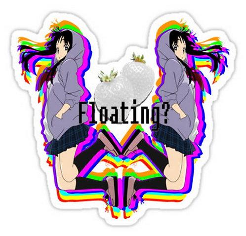 SRBB0475 Uh...Floating?... Car Window Decal Sticker anime