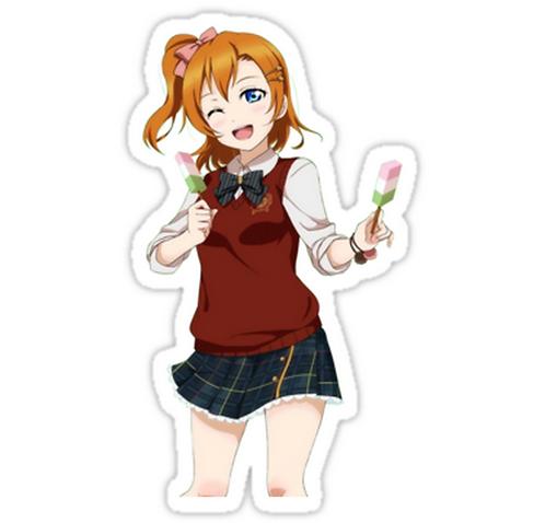 SRBB1509 Love Live! Kousaka Honoka Car Window Decal Sticker anime