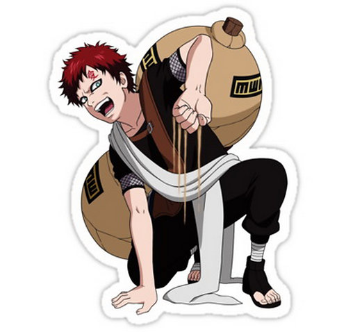 SRBB0490 gaara Car Window Decal Sticker anime