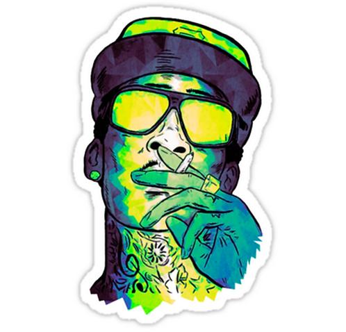 SRBB0953 Wiz Khalifa ArtCar Window Decal Sticker anime