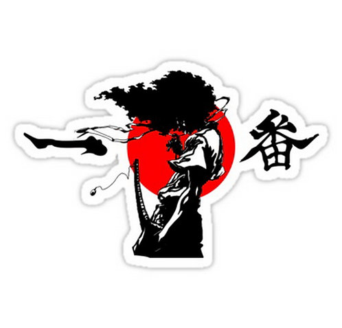 SRBB0438 Samurai Car Window Decal Sticker anime