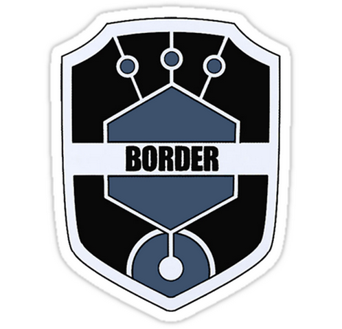SRBB1553 World Trigger - Border Logo Car Window Decal Sticker anime