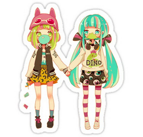 SRBB0162 Chewing Gum Car Window Decal Sticker anime